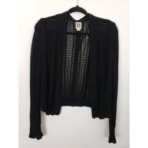 Ann Klein Open Front Chunky Knit Cardigan